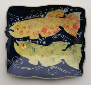 Frank Hamer Ceramic Painting - Lyretail